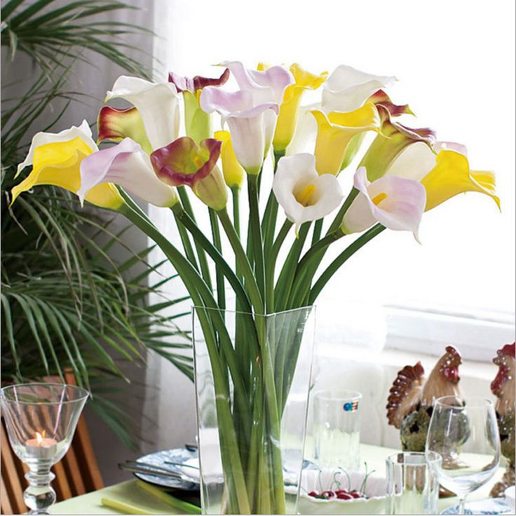 Cheap flower tealight, Buy Quality flower gemstone directly from China flower latex Suppliers: 	Hot Sale Real Touch Calla Lily Bridal Wedding Bouquet head Latex Real Touch Artificial Flower Decor	Product Description