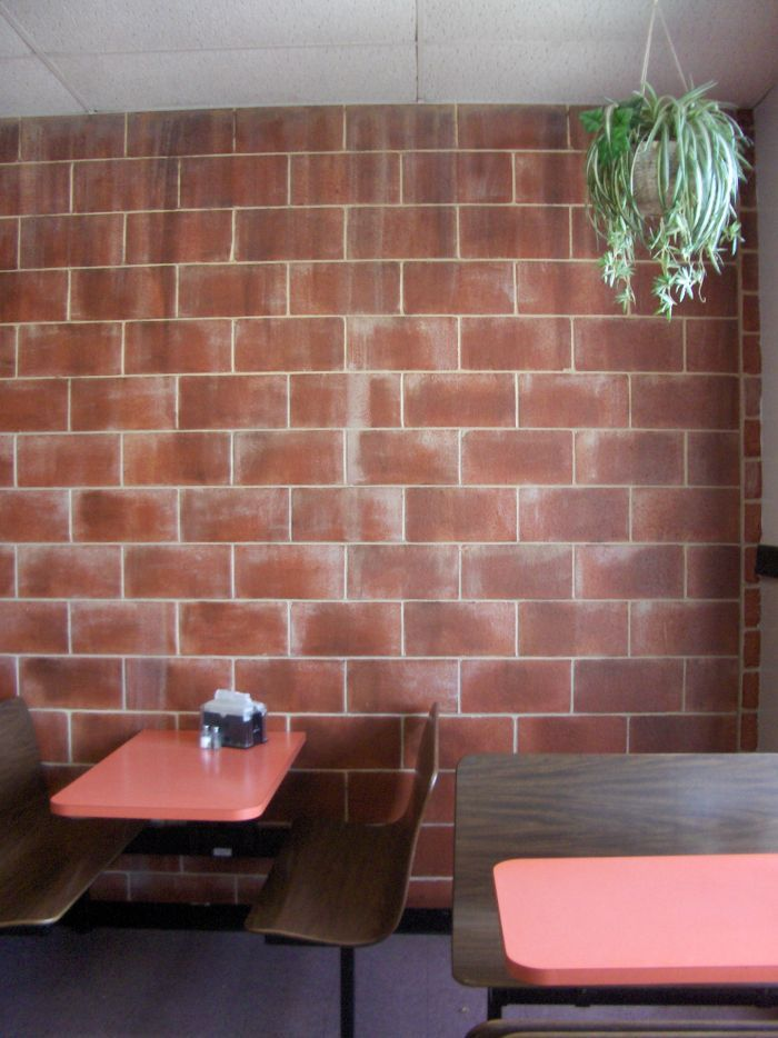 Faux brick wall painting tips west side story - Concrete block painting ideas ...