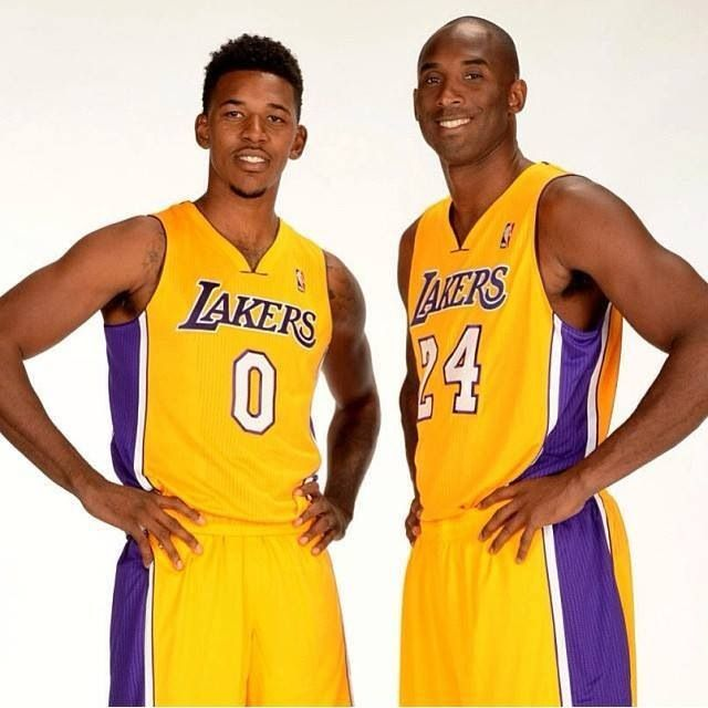 "Nick ""Swaggy P"" Young & Kobe Bryant"