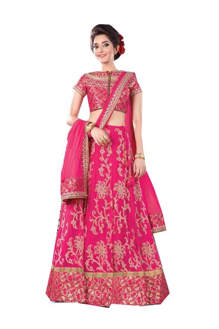 Da Facioun Lehenga Sari Saree in Silk Fabric 83728