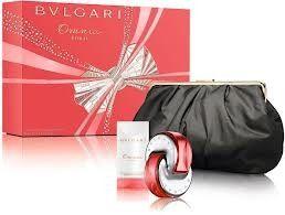 Bvlgari Omnia Coral Gift Set Perfume for Women, 65ml EDT, 75ml Body Lotion, Purse