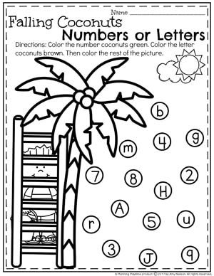Preschool Numbers or Letters Worksheet for Summer
