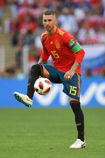b3bf1586391 Sergio Ramos Photos - Sergio Ramos of Spain controls the ball during the  2018 FIFA World Cup Russia Round of 16 match between Spain and Russia at  Luzhniki ...