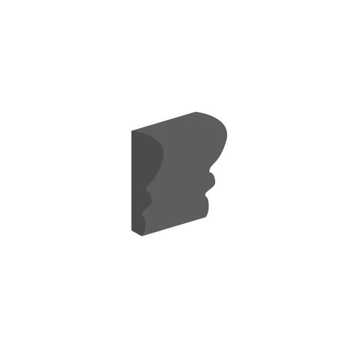 "Daltile K711-26CR1P2 Semi-Gloss Matte Black 2"" x 6"" Ceramic Chair Rail Multi-Sur Matte Black Tile Accessories Tile Moldings Chair Rail"