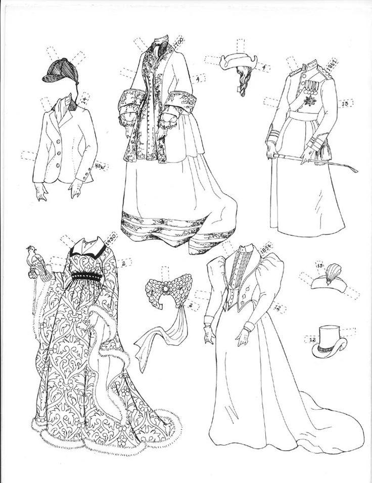 1027 best paperdolls to color images on pinterest | paper dolls ... - Paper Doll Clothes Coloring Pages