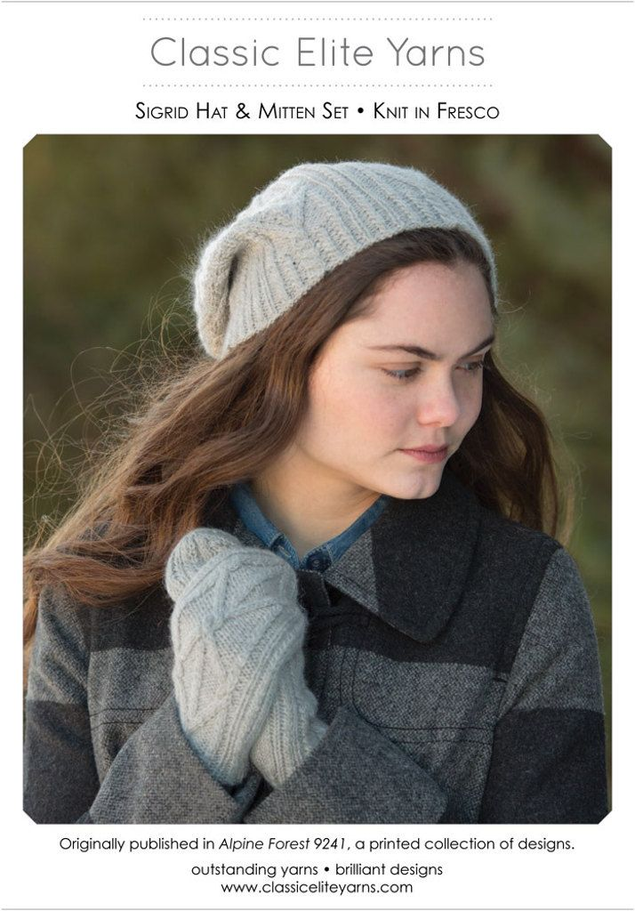 Sigrid Mittens in Classic Elite Yarns Fresco - Downloadable PDF. Discover more patterns by Classic Elite Yarns at LoveKnitting. The world's largest range of knitting supplies - we stock patterns, yarn, needles and books from all of your favourite brands.