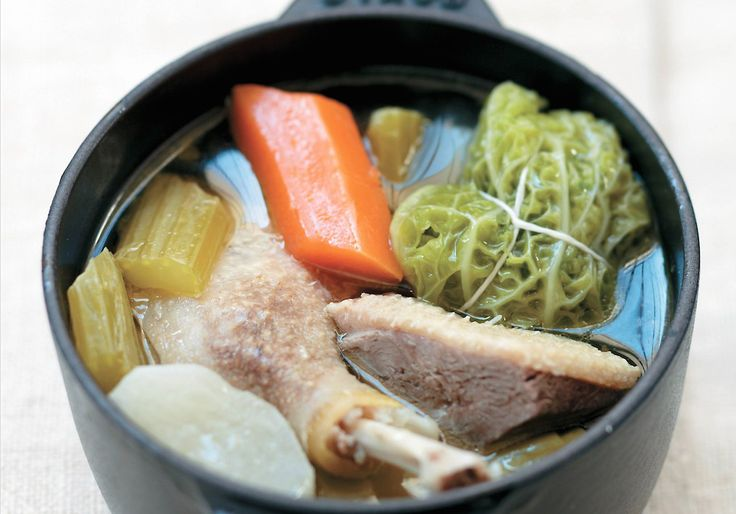 Duck Pot-au-Feu, Starring Cabbage Leaves Stuffed With Foie!