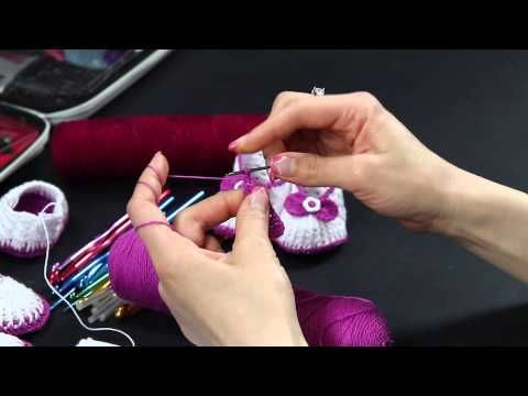 Video Tutorial - Scarpette estive in cotone lilla ad uncinetto (Prima Parte) - videocorso full HD - YouTube