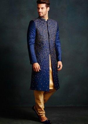 Tesselation shimmer sherwani