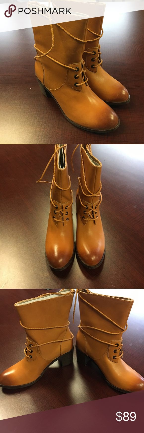 🔥Wolverine 1000 Mile Women heel tan leather boot Wolverine 1000 mile by Samantha Pleet women's tan leather heel boots. They have an amazing burnished toe with the laces that wrap around the boot which give them an amazing look. These are all size 7 and new without a box wolverine 1000 mile Shoes Heeled Boots
