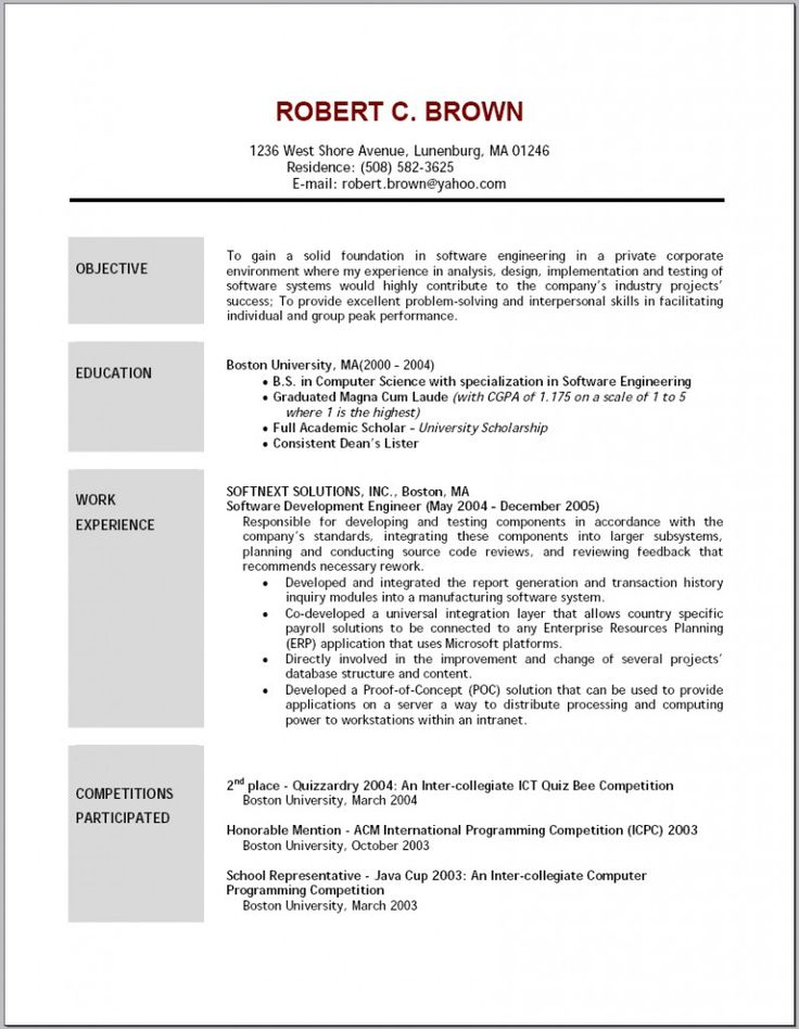 It Resume Objective Resume Samples Pinterest Resume objective - resume objective for student