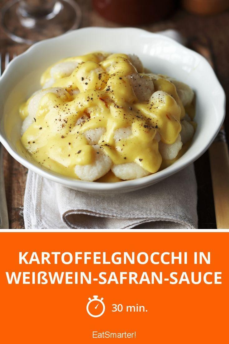 Kartoffelgnocchi in Weißwein-Safran-Sauce