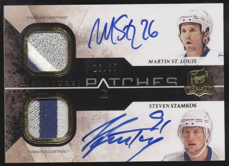 2010-11 UD The Cup Steven Stamkos Martin St. Louis Dual Patch Auto