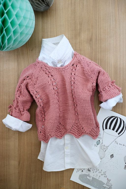 Pink sweater. Baby girl knit sweater. Handmade baby top. Baby top 0 - 12 months. Girls pullover. Newborn gift. Crochet baby sweater. Pink. by…