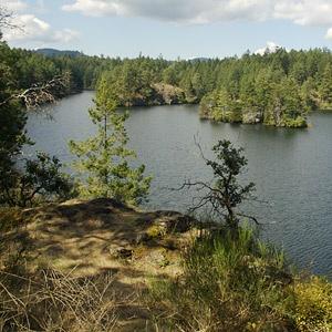 Thetis Lake, 17 mins away.