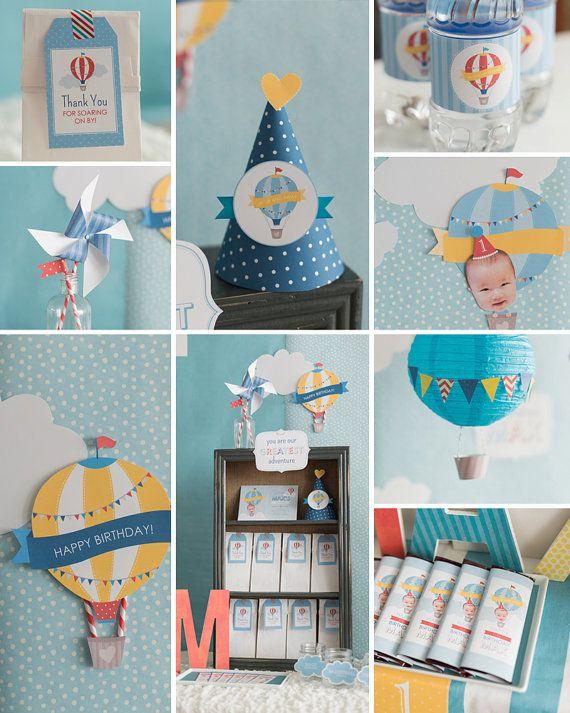 Compleanno dell'aerostato di aria calda decorazione festa