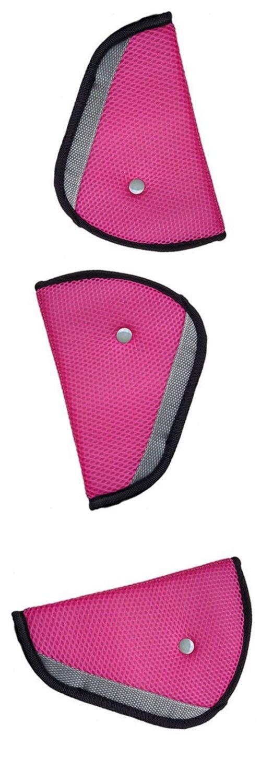 AUTO Children Kid Car Safety Harness Adjuster Seat Belt Seatbelt Strap Clip Cover Pad Pink