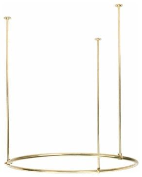 Shower Curtain Rods Round | 10861 transitional-shower-curtain-rods