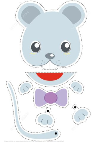 Paper Puppet Toy Mouse to Cut Out and Play from Paper models category. Hundreds of free printable papercraft templates of origami, cut out paper dolls, stickers, collages, notes, handmade gift boxes with do-it-yourself instructions.