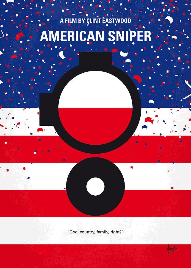 American Sniper (2014) ~ Minimal Movie Poster by Chungkong #amusementphile