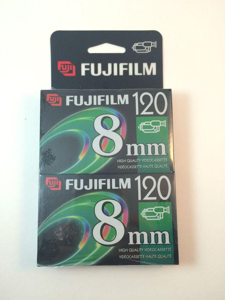 FUJI Film 120 8 mm Video PG-12 For Vintage 8 Video Recording 2 Per Pk NEW #Fujifilm