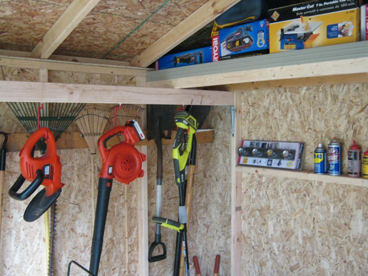The 19 best images about shed organization ideas tips on for Self garage nice