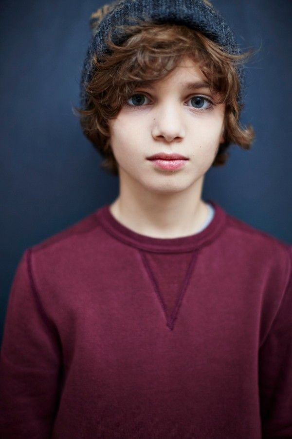 Great portrait shot in a simple sweatshirt from Finger in the Nose fall14 kidswear