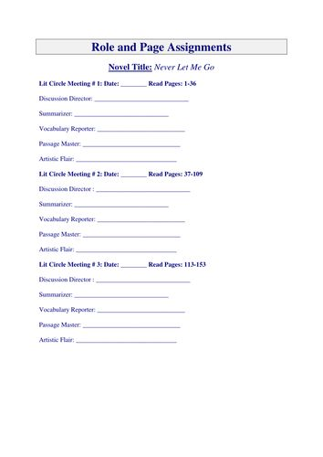High School Literature Worksheets : All worksheets literature circle high school