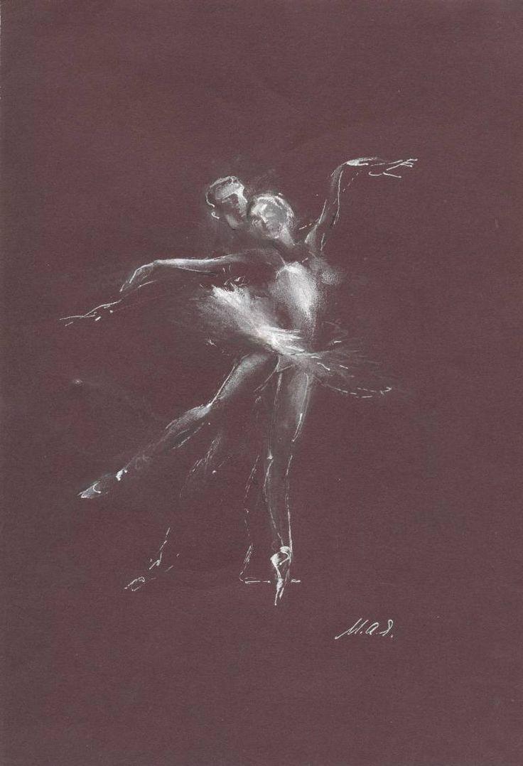 "Saatchi Art Artist Maia Ianuschevici; Drawing, ""Ballet couple Nr 5 / LIMITED EDITION 1 OF 10"" #art"