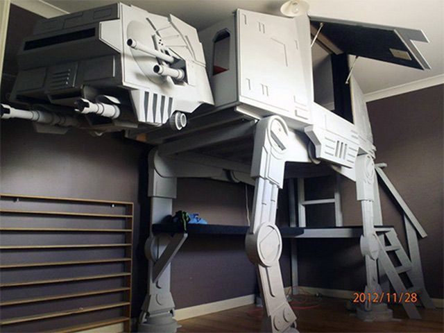 AT-AT Loft Bed - The best part of being a grown up, you can actually build those crazy cool ideas you had as a kid without your parent's permission.