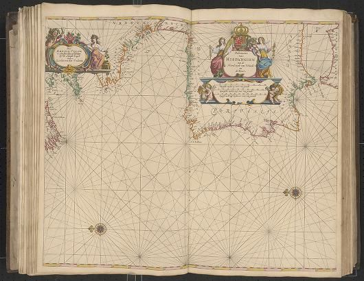 Page 14 Zee-atlas; Colom, Arnold 1656?  Albert and Shirley Small Special Collections Library, University of Virginia.  http://search.lib.virginia.edu/catalog/uva-lib:2287415/view#openLayer/uva-lib:2380015/6549.5/8477/2/1/0