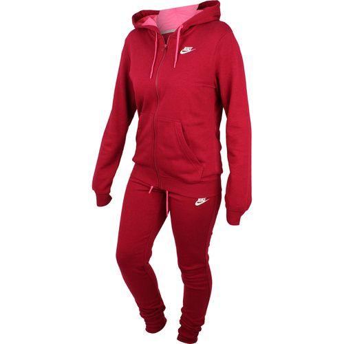 Trening femei Nike W Nsw Trk Suit Flc Sweatsuit 803664-620