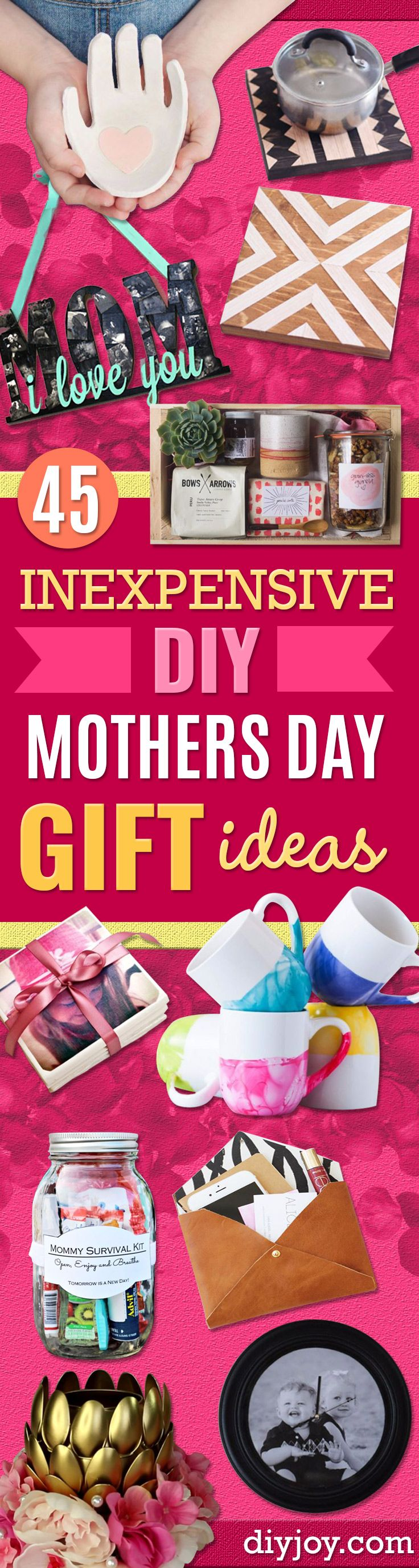 DIY Mothers Day Gift Ideas - Homemade Gifts for Moms - Crafts and Do It Yourself Home Decor, Accessories and Fashion To Make For Mom - Mothers Love Handmade Presents on Mother's Day - DIY Projects and Crafts by DIY JOY http://diyjoy.com/diy-mothers-day-gi