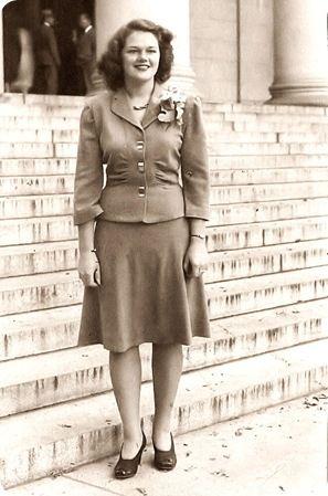 Grandma in her Army Wife Days