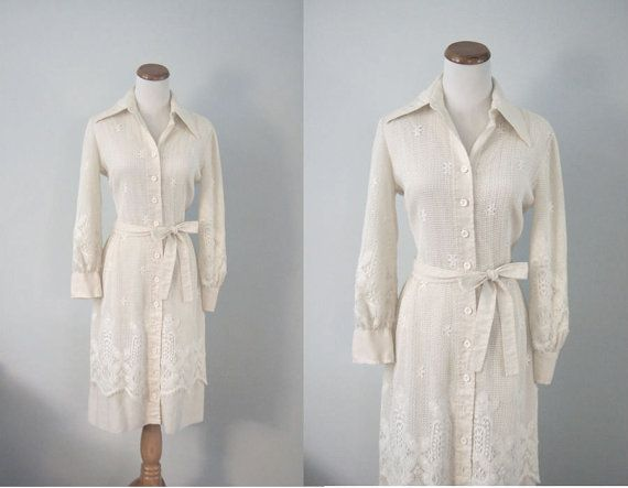 vintage cream lace bohemian hipster wedding dress by CatScratchVintageCo on Etsy,  SOLD