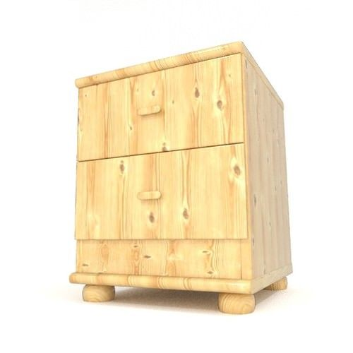 bedside table with drawers 3d model obj fbx blend 1