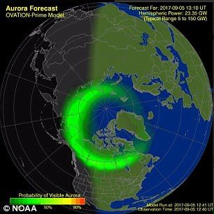 Solar storms set to spark the Northern Lights tonight | Daily Mail Online