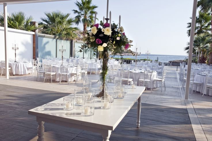 wedding - naming party space by the sea /  table set detail / Varkiza Greece / interior designer Sissy Raptopoulou