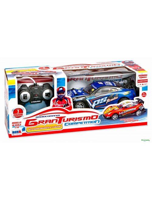 AUTO BLU RADIOCOMANDO Gran Turismo Competition scala 1:18 bambini 5 anni