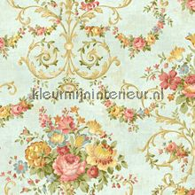 Klassiek Behang bloemen