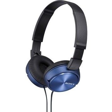 Sony MDRZX310AP/L Sony Sound Monitoring Headphones - Stereo - Blue - Mini-phone - Wired - 24 Ohm - 10 Hz - 24 kHz - Gold Plated - Over-the-head - Binaural - Supra-aural - 3.94 ft Cable | Jet.com