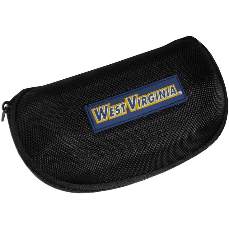 """Checkout our #LicensedGear products FREE SHIPPING + 10% OFF Coupon Code """"Official"""" W. Virginia Mountaineers Hard Shell Sunglass Case - Officially licensed College product Hard shell glasses case protects your glasses for bumps, scratches and dirt  Zippered closure for added  Fits even wide lense styles  W. Virginia Mountaineers logo - Price: $16.00. Buy now at https://officiallylicensedgear.com/w-virginia-mountaineers-hard-shell-sunglass-case-csgch60"""