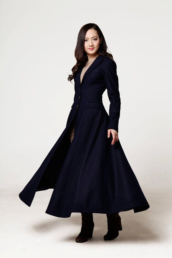 New design long Mandarin Collar wool coat is graceful and formal, especially suits for office women. Long skirt and Mandarin collar are good to