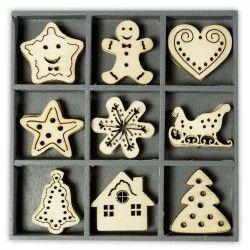 Abbellimenti in legno Cart-Us - Dolce Natale