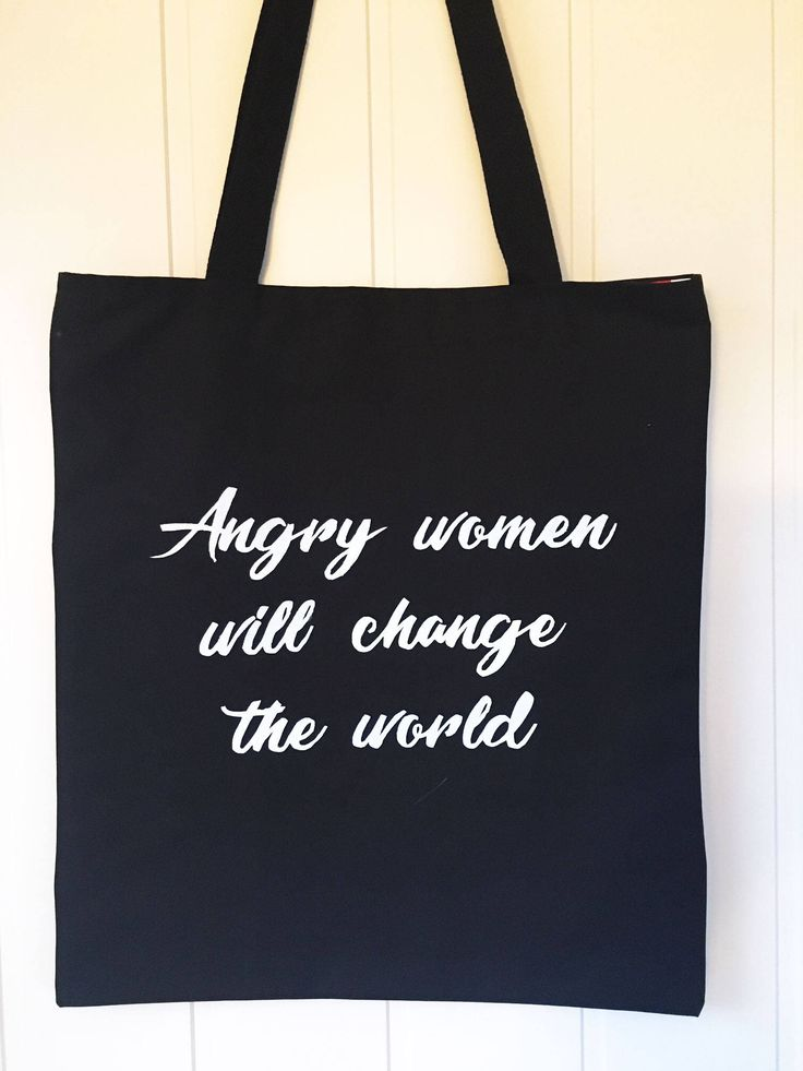 """Excited to share the latest addition to my #etsy shop: Totebag """"Angry women will change the world"""", shopping bag, feminist tote #bagsandpurses #totebag #shopping"""