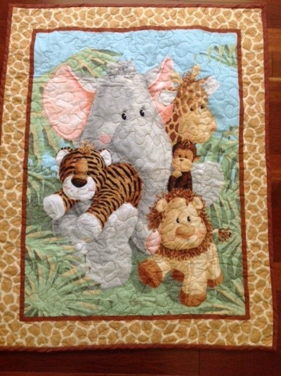 Welcome to the jungle Baby Quilt