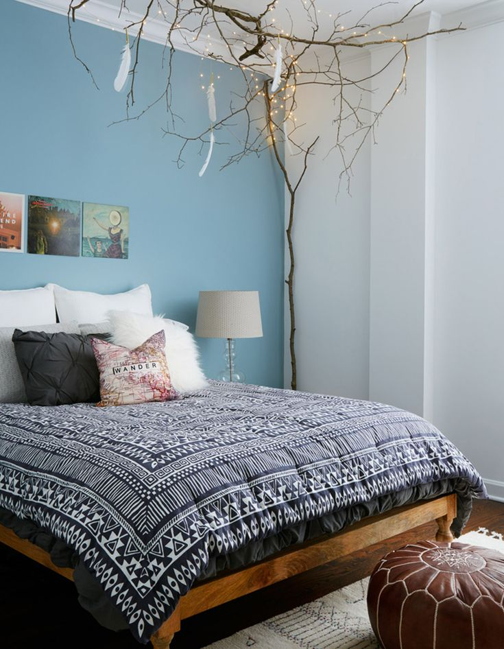 A Bold, Eclectic Home in Chicago's East Loop | Interior Design by Jen Talbot of Jen Talbot Design | Photography by Dustin Halleck | Modern Sanctuary | Bedroom | Bohemian Bedroom | Lighting | Bedding