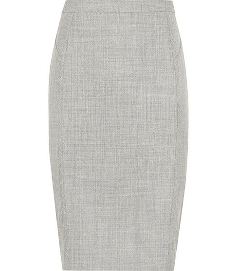 Light Grey Pencil Skirt - Dress Ala