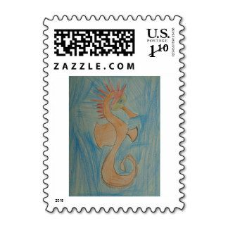 Colored Pencil, Seahorse, Art by Kids, #stamps