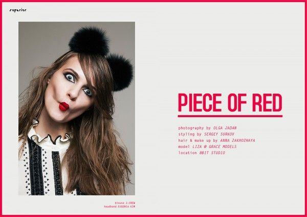 PIECE OF RED - Fashion Editorial by Olga Jadan